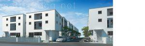 戸建て住宅の建築CGパース Project W by J